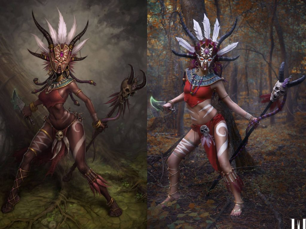 Diablo 3 Witch Doctor Cosplayer