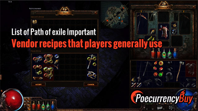 Vendor-recipes-that-players-generally-use